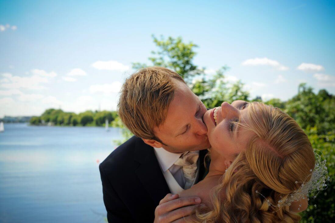 Brautpaar Fotoshooting Alster