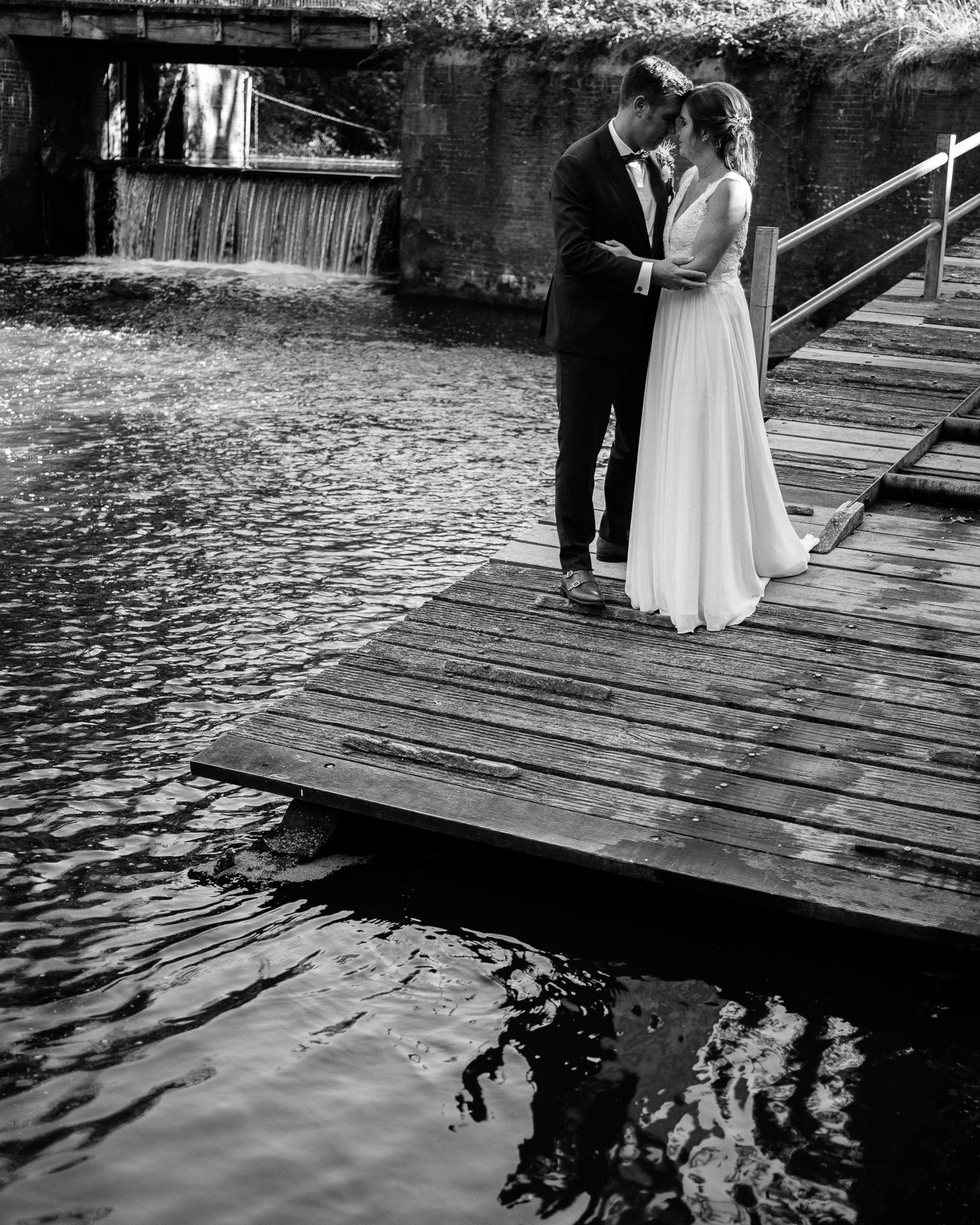Hochzeitsfoto an der Mellingburger Schleuse
